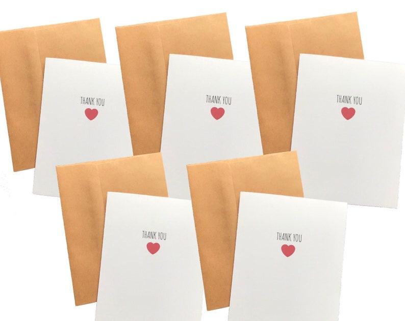 Cute Thank You Card Set 5 Card Set Thank You Notes Wedding Thank You Card Pack Bride Thank You for Bridesmaids Teacher Gift Thank You Note