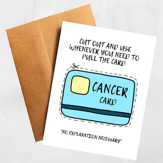 Funny Chemotherapy Cancer Treatment Support Card
