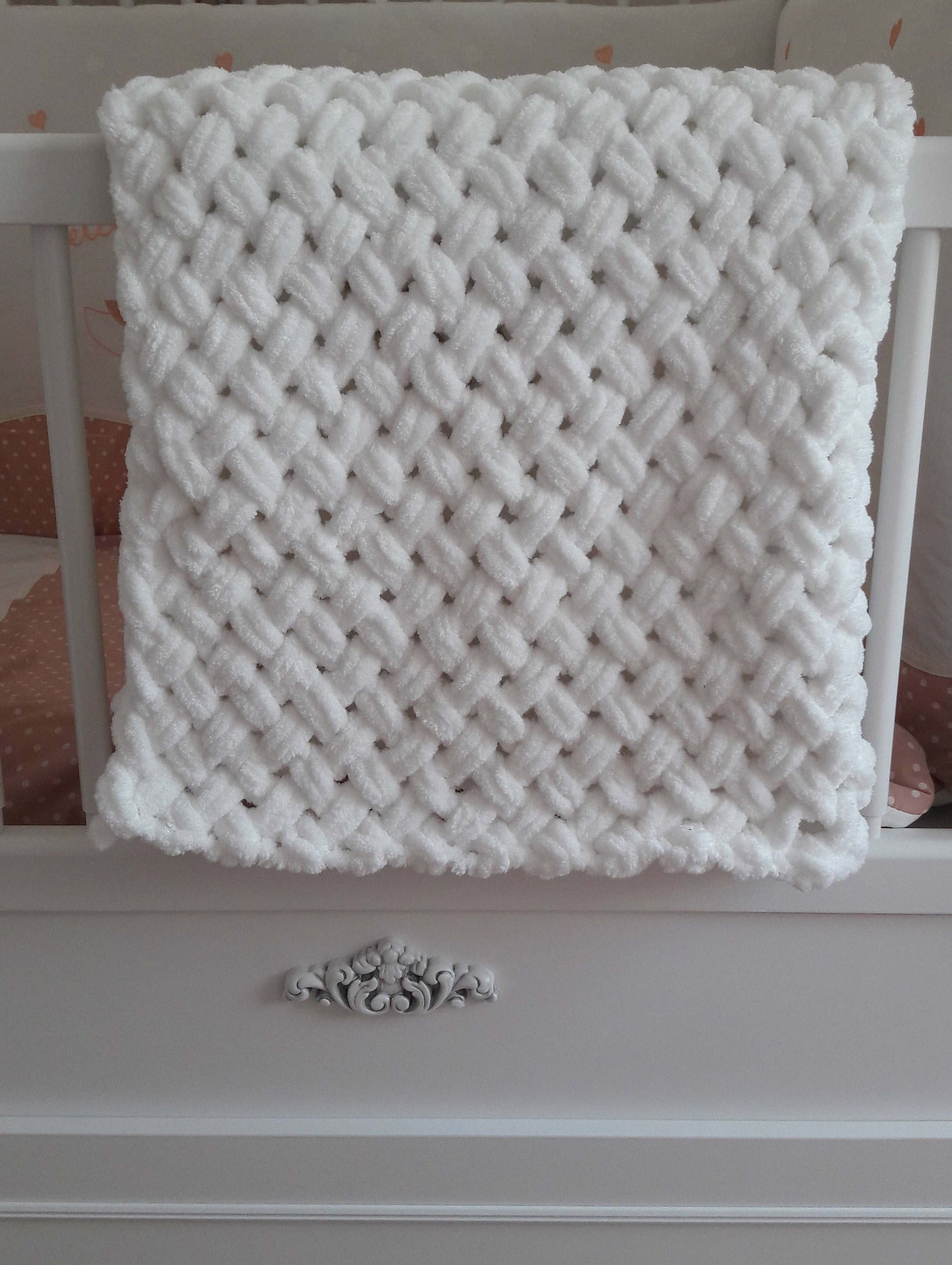 Alize Puffy Velvet Hand Knit Baby Blanket Etsy