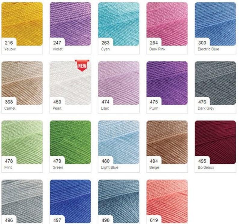 Alize Miss Free fast shipping 26 Skeins toys yarn fine yarn lace yarn summer yarn /%100 cotton mercerized soft yarn