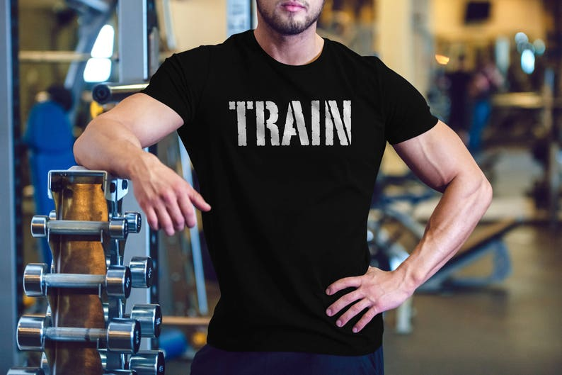5fb28f23 Train mens gym shirt workout shirt for men graphic tees | Etsy