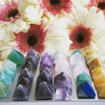 Mini Crystal Pyramid Fridge Magnets - Crystal Home Decor and Gemstone Office Decor - Cute Magnet Sets for Housewarming or Christmas Gifts