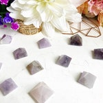 Amethyst Pyramid Fridge Magnets - Luxury Crystal Home Decor -  Cute Magnet Sets for Unique Gifts, Christmas Gifts, and Housewarming Gifts