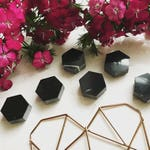 """Marble Refrigerator Magnets - Small Sets of 1"""" Hexagon Magnets - Cute Magnet Set for Coworker Gift or Housewarming Gift - Individual Magnets"""