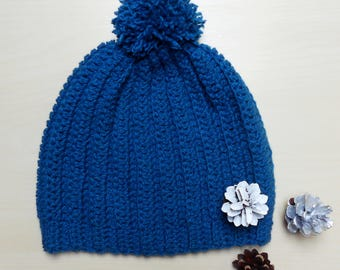 Crochet Hat - Winter Hat - Winter Accessories - Ribbed Hat - Womens Fashion - Ready To Ship