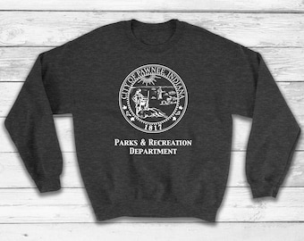 Skagen Mens 745XLSLD Sport Collection Chronograph Brown Leather Watch City of Pawnee Sweatshirt, Cit