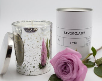 Luxury Silver Candle – – Sparkling Champagne with divine citrus notes.
