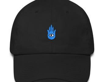 Hamsa Hand Dad Hat  Boho Dad Hat  Psychedelic Dad Hat  Festival Outfit  Hippy Dad Hat  Cotton Cap