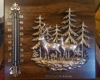 Souvenir Deer Thermometer from Greene Iowa Deer Knick Knack Souvenir Thermometer