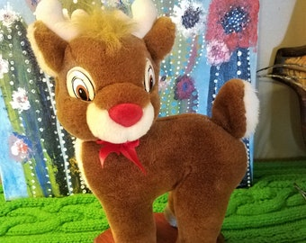 c9cb370016243 Vintage Applause Rudolph the Red Nosed Reindeer Plush Stuffed Animal 10 in