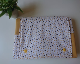 Travel baby Changing mat and diaper bag; outside cotton, inside waterproof