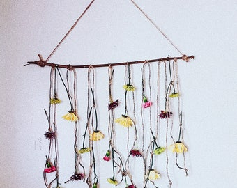 Hanging Flower Wall Decor