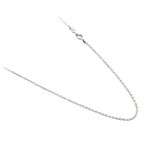 Sterling Silver Polished Solid 3.5mm Wide Diamond Cut Rope Chain Necklace Length 30 Inch