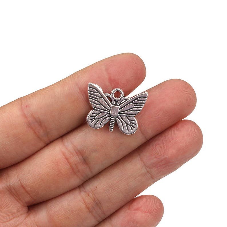 10pcs Butterfly Charms Pendant Jewelry Findings Handmade Accessories 50*24*11mm