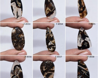 Turkish Stick Agate Cabochon Transparent Agate Top Quality Gemstone Natural Cabochon  Jewelry Making Stone 27x20x4 cts 23 #M987