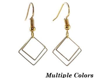 Square Dangle Earrings