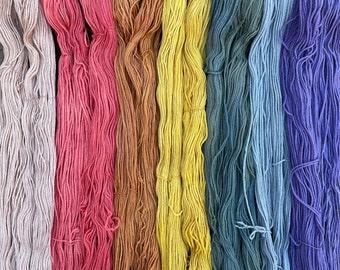 Plant-Dyed Yarn, DK weight (100g/246 yds)