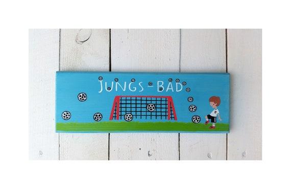 Türschild Kinder Junge Kinderzimmer Fußball Tor Fussball Name | Etsy