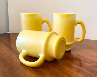 Vintage Yellow Coffee Cups