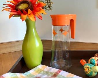 Anchor Hocking Atomic Orange Juice Pitcher