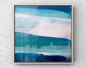 Blue Abstract Wall Art, Blue Wall Art, Original Art, Modern Painting On Canvas, Blue Mid Century Modern Art, Blue Painting, Wall Decor