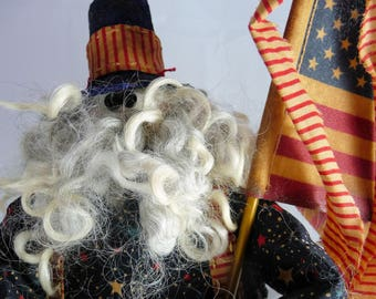 Primitive Uncle Sam Doll