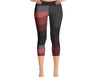 5442cec2b Adult Capri Leggings  Ballet I (Burgundy