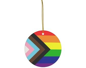 Pride Ceramic Christmas Ornament: LGBTQ+