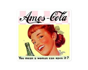 Amos-Cola official logo sticker: indoor/outdoor bubble-free vinyl sticker