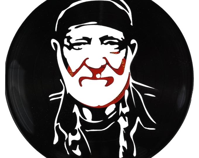 Willie Nelson Vinyl Record Art