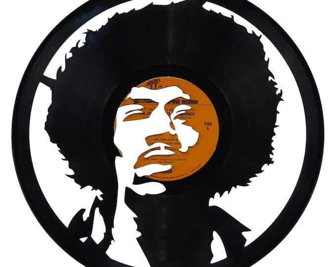 Jimi Hendrix Vinyl Record Art