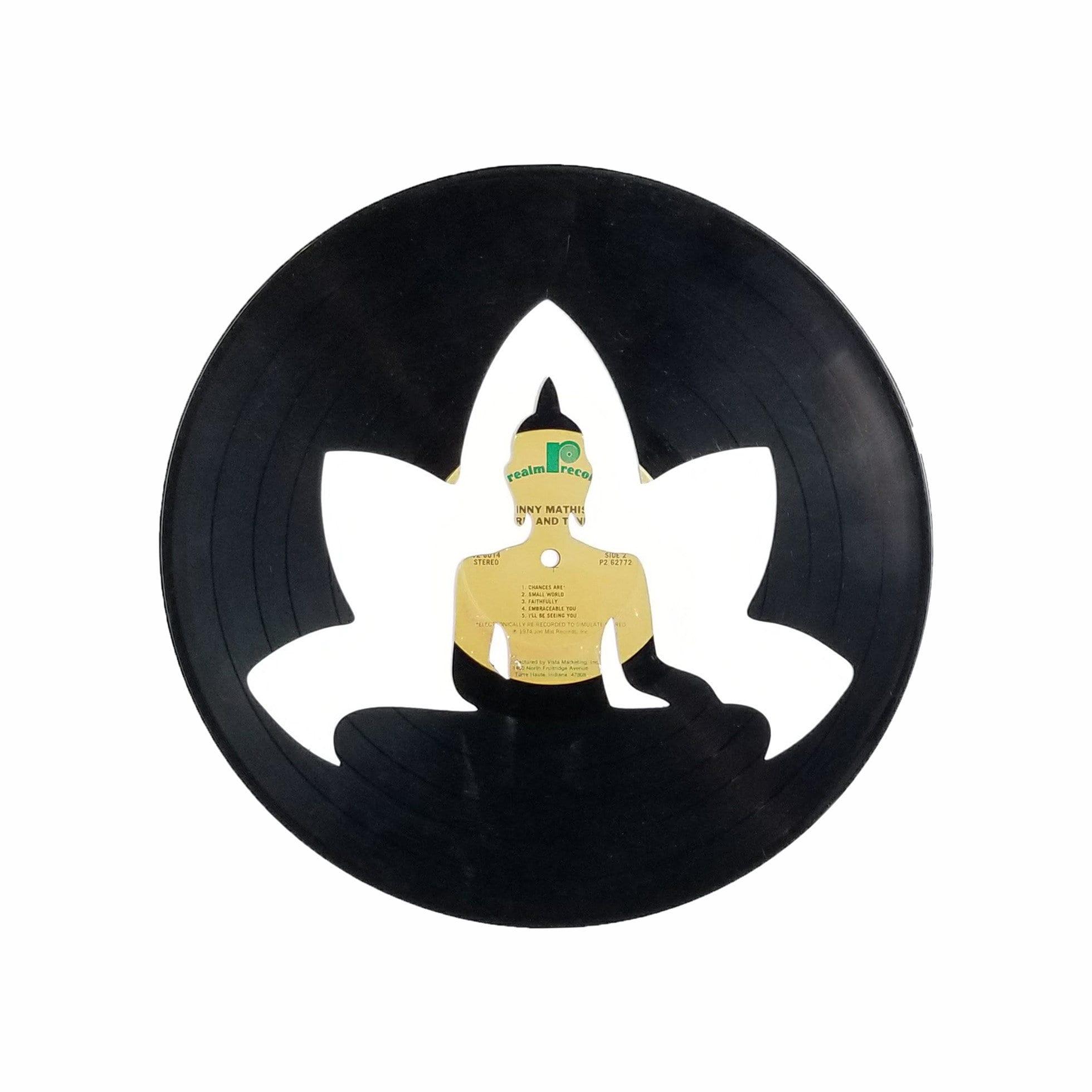 Buddha Lotus Flower Vinyl Record Art