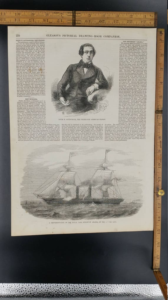 Foundering of the Steam Ship La Plata in the Bay of Biscay Antique Print 1874