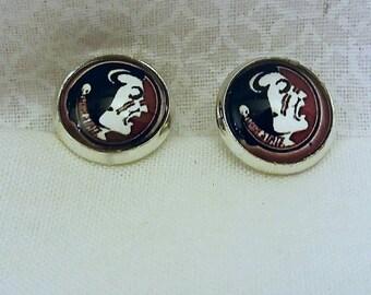 Florida State University cufflinks FSU Game Day Cuff Links Noles gifts for men Florida Seminoles guys gift