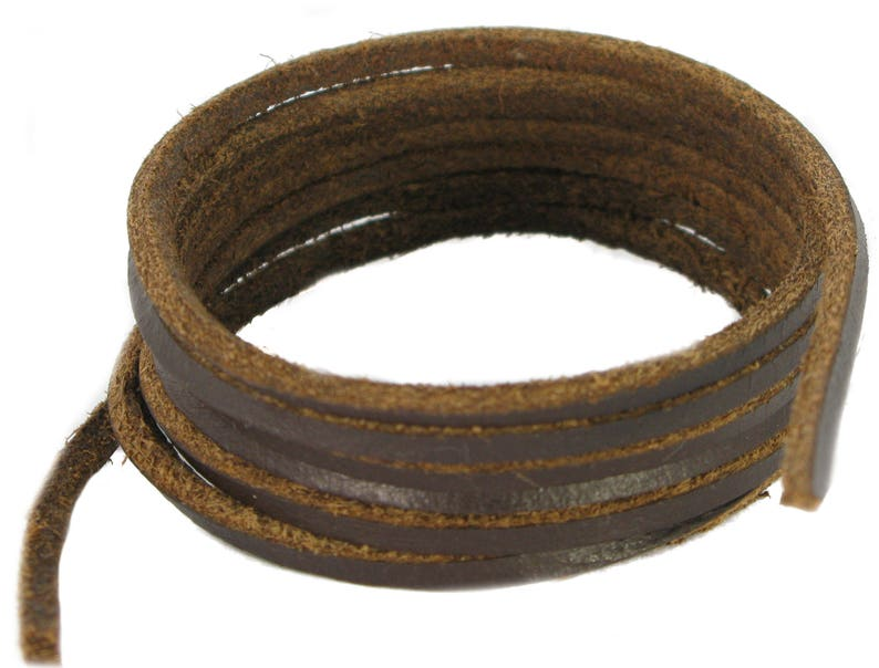 Shoe and Boot Laces Black 3 mm Round Leather Lengths from 45 cm-120 cm
