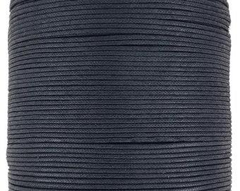 Wax cotton cord 2 mm black