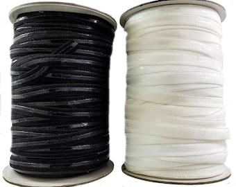 Silicone Elastic Cord 12 mm Black & White
