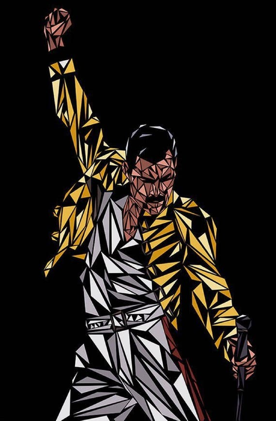 Full counted cross stitch kit FREDDIE MERCURY QUEEN