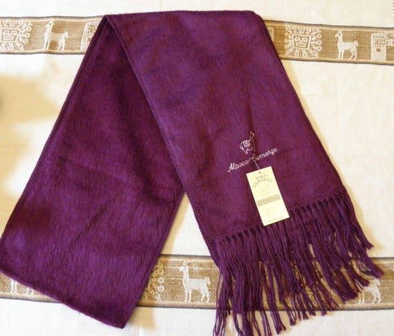 Alpaga CAMARGO écharpe Made In Pérou foulard Alpaca du Pérou   Etsy 9757a5778ed