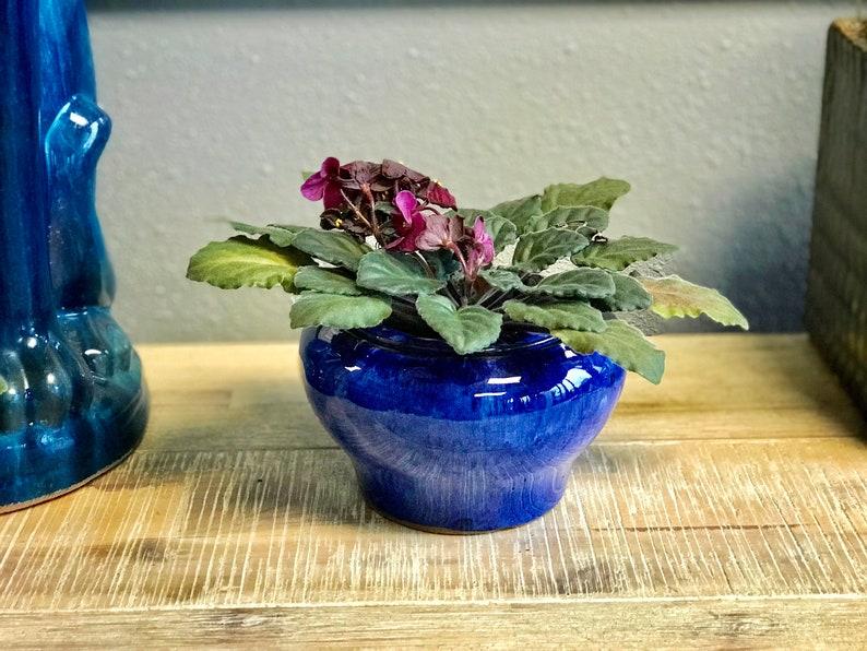 Self Watering Drum Shape Glazed Ceramic Pot, African Violet Pot, Succulent  Pot, Glazed Pottery, Multi Color, Ceramic planter, Laid back