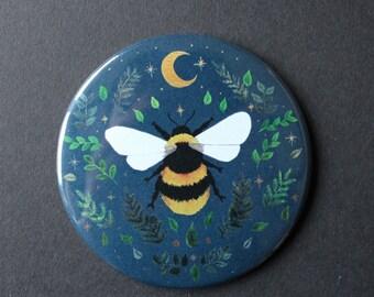 Bee with Foliage Pocket Mirror