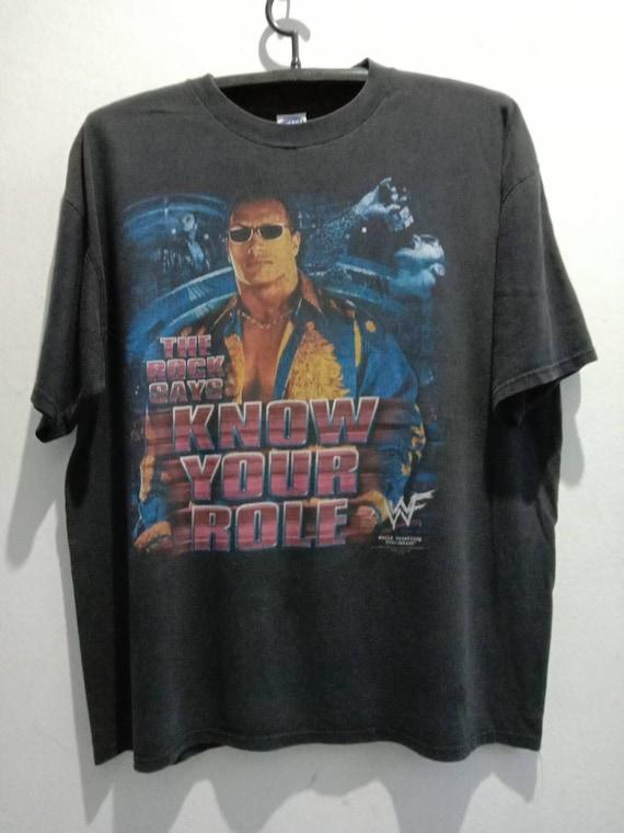 1990s The Rock Vintage WWF Tshirt
