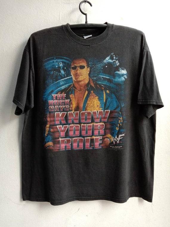 1990s The Rock WWF Vintage Original Tshirt - image 1
