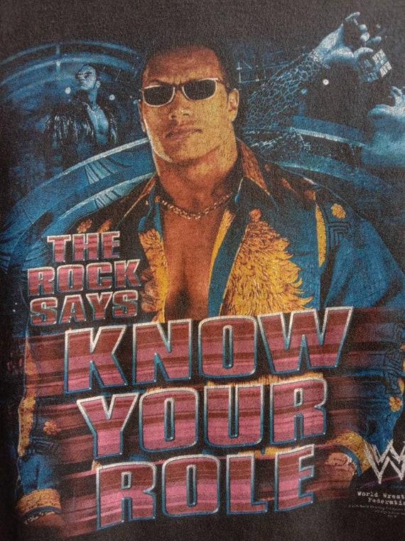 1990s The Rock WWF Vintage Original Tshirt - image 3