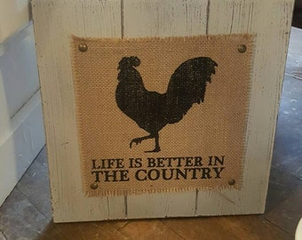 Rooster Decor Etsy