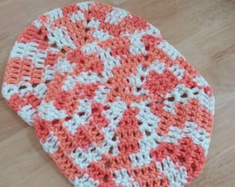 Different design for a pair of dish cloths