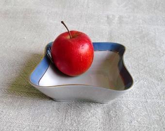 square Plate Vintage Porcelain. Riga porcelain Latvia RPR. square Tableware. Made in Soviet Latvia. USSR 1970 s