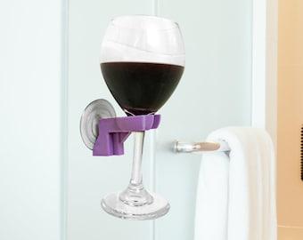 Bath Wine Holder - Bathtub Caddy - Wine Glass Rack - Wine Glass Holder - Shower Wine Caddy - Wedding Favors - Mother's Day Gift