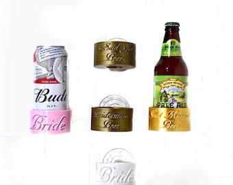 Just Married Beer Caddy - Shower Beer Holder - Groomsman Gift - Bridesmaid Gift - 3D Printed - Bathtub Beer Mug - Wedding Favors - Beer Gift