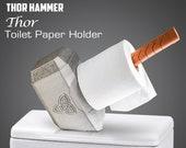 Thor Toilet Paper Holder - Thor Hammer - White Elephant Gift - Mjoinir Hammer - Bathroom Decor - White Elephant - Holder - Best Seller -